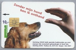 NL.- Telefoonkaart. PTT Telecom. Stichting SOHO, Herpen. Zonder Mijn Hond Ben Ik Onthand. A427 - Honden