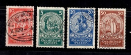 Allemagne/Reich Michel N° 351/354 Oblitérés. B/TB. A Saisir! - Germany