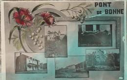Pont De Bonne , (Modave ,Huy ), Multivues ,café,gare,chateau,caveau,rocher - Modave