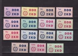 DDR, Dienst, Laufkontrollzettel 1-15** (T 2982) - Official