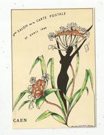 Cp, 4 E Salon De La Carte Postale Et Toutes Collections, Caen , Illustrateur Jean Clérembaux , Vierge - Bourses & Salons De Collections