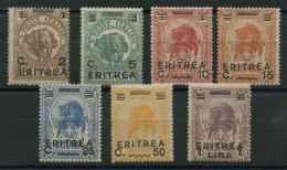 Erytrée (1922) N 54 A 60 (charniere) - Erythrée