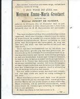 B.P.  DRONGEN GROOTAERT EMMA 1857 - 1943 ZOMERGEM BEKE - Religion & Esotericism