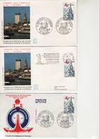 Dunkerque, Congrès Des Sociétés Philatéliques, Timbre N° 2088. FDC 24 Mai 1980, 4 Enveloppes - FDC