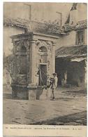 64 CIBOURE ST JEAN DE LUZ LA FONTAINE DE LA DOUANE 1910 CPA 2 SCANS - Ciboure