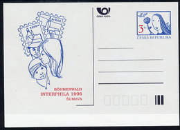 CZECH REPUBLIC 1996 3 Kc. Postcard INTERPHILA 1996, Unused.  Michel P18-A2 - Postal Stationery