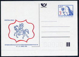 CZECH REPUBLIC 1996 3 Kc. Postcard Münchner Briefmarkentage, Unused.  Michel P18-A1 - Postal Stationery