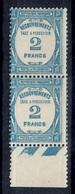 France Timbre-taxe YT N° 61 En Paire Neufs ** MNH. Gomme D'origine. TB. A Saisir! - Postage Due