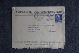 Timbre Sur Lettre Publicitaire - PARIS - Papeterie Des Architectes. - Printing & Stationeries