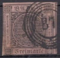 "Mi-Nr. 4, Klar ""87"", Mannheim. O - Baden"