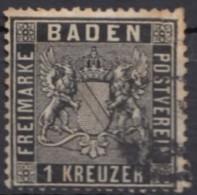 Mi-Nr. 9, Bedarfsstück, Uhrradstempel, O - Baden
