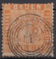 Mi-Nr. 11, Zentr. Gestempelt, Etwas Bügig, O - Baden