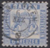 Mi-Nr. 19, Gut Gez., Sauber Gestempelt, Etwas Erhöht Gepr. England, Winzige Dünne Stelle, O - Baden