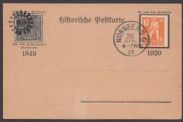 """Mi-Nr. 179, EF Auf Dek. Karte Mit """"Bayern 1er"""", Sauber """"Nürnberg"""", 30.4.20 - Bayern"""