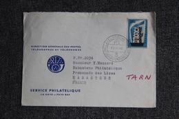 Timbre Sur Lettre Publicitaire - LA HAYE, Service Philatélique Vers FRANCE ( RABASTENS) - Netherlands