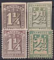 4 Versch. 4 Versch. Werte, Nachdrucke?, *,(*) - Hamburg