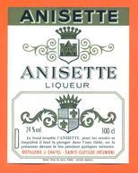 étiquette Ancienne Liqueur Anisette - J Chatel à Sainte Clotilde ( Réunion ) 24 °/° - 100 Cl - Etiquettes