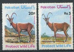 221 PAKISTAN 1976 - Yvert 405/06 - Bouquetin - Neuf ** (MNH) Sans Trace De Charniere - Pakistan