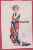 THE LEAGUE OF NATIONS----LITTLE MISS BRITAIN--Drapeau Royaume-Uni---Illustrateur Raphal Tuck 'Oilette ' - Tuck, Raphael