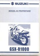 GSX-R1000 SUZUKI MANUEL DU PROPRIETAIRE 2000 MANUALE ORIGINALE - Other