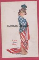 THE LEAGUE OF NATIONS----LITTLE MISS GLORY----Illustrateur Raphal Tuck 'Oilette ' Drapeau Américain - Tuck, Raphael