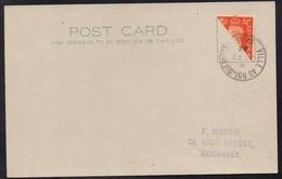 GUERNESEY - GUERNSEY - VILLE AU ROI / 1941 - DEMI TIMBRE SUR CARTE LOCALE  (ref LE2149) - Guernesey
