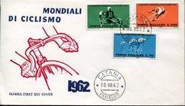 31737 Italia, Fdc  1962  World Cycling Champ 1962 - Ciclismo