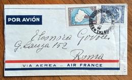 POSTA AEREA  AIR  FRANCE   DA BUENOS AIRES A ROMA IL 16/10/36 - Sonstige