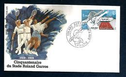 FDC 1978 TENNIS ROLAND GARROS - 1980-1989