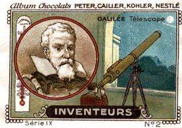 CHROMO CHOCOLATS PETER CAILLER KOHLER NESTLE INVENTEURS N° 2 GALILEE TELESCOPE - Andere