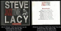 61 Minuten Jazz Von Steve Lacy Von 1963 - 1981 - Jazz Of Finest - From 1963 - 81 - Jazz