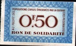 Bon De Solidarite 0,50F - Bons & Nécessité