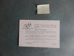 Pervijze - 1955 - Vandeweghe - Florizoone - Priesterwijding Michel Vandeweghe - Faire-part