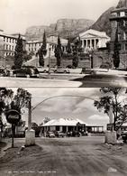 2 CPSM USA - Voitures Américaines & Coca-Cola 1950 - Valley View Tea Room, 1000 Hills - Cape Town University - 689 & 970 - Passenger Cars