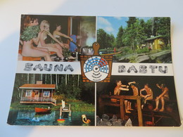 C.P.A. SUOMI, FINLAND : Sauna BASTU, Animé, Femmes Seins Nus - Finlande