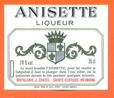 étiquette  Glaçée Anisette Liqueur - J Chatel à Sainte Clotilde ( Réunion ) 24 °/° - 35 Cl - Etiquettes