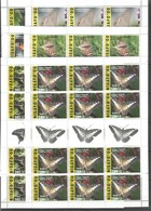 12x NIUAFO'OU - MNH - Animals - Insects - Butterflies 2015 - 2016 - Full Sheets - Papillons