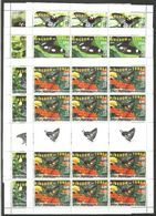 12x KINGDOM OF TONGA - MNH - Animals - Insects - Butterflies 2015 - 2016 - Full Sheets - Papillons