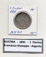 Austria - 1891 - 1 Fiorino - Argento - (MW439) - Austria