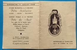 Invitation Gala De L'Hotel De Ville Quinzaine Du Carillon En 1948 - Faire-part