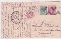 Intero Da  25c. Anno22 Con Bollo Aggiuntivo Da Trento 1923 G801 - 1900-44 Vittorio Emanuele III