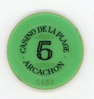 Jeton De Casino Arcachon 5 F - Casino