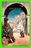 MONTE CARLO - THE CHURCH OF ST DEVOTE - ANIMATED - TRAVEL IN 1907 - RAPHAEL TUCK & FILS LTD - - Monte-Carlo