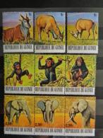GUINEE 1977   Y&T  N° 604 à 621 ** + P.A. N° 116 à 133 **  - FAUNE A PROTEGER - Guinee (1958-...)