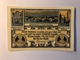 Allemagne Notgeld Eschershausen 2 Mark - [ 3] 1918-1933 : République De Weimar