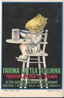 Illustr. Achille MAUZAN - Farina Lattea ITALIANA Paganini, Villani & C. Milano - Pubblicitari