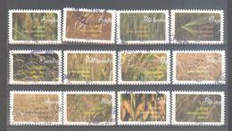 France Autoadhésifs Oblitérés (Série Complète : Une Moisson De Céréales) (cachet Rond) - Used Stamps