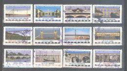 France Autoadhésifs Oblitérés (Série Complète : Ponts Et Viaducs) (cachet Rond) - Oblitérés