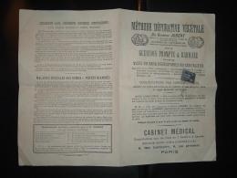PETIT JOURNAL METHODE DEPURATIVE VEGETALE Du Docteur JOBERT à PARIS TP SAGE 1c OBL.27 MAI 84? - 1877-1920: Periodo Semi Moderno