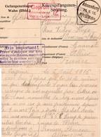 CP- L Camp De Prisonniers -WAHN- - 1. Weltkrieg 1914-1918